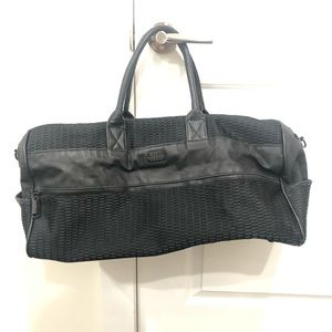 Steve Madden black gym duffle bag